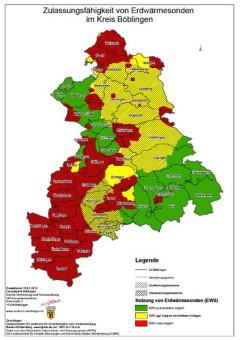 Ampelkarte des Landratsamts Böblingen